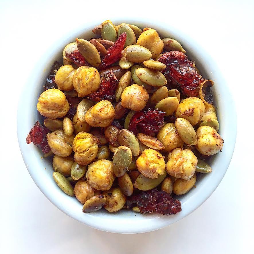 Seasoned Cinnamon Chickpea Trail Mix