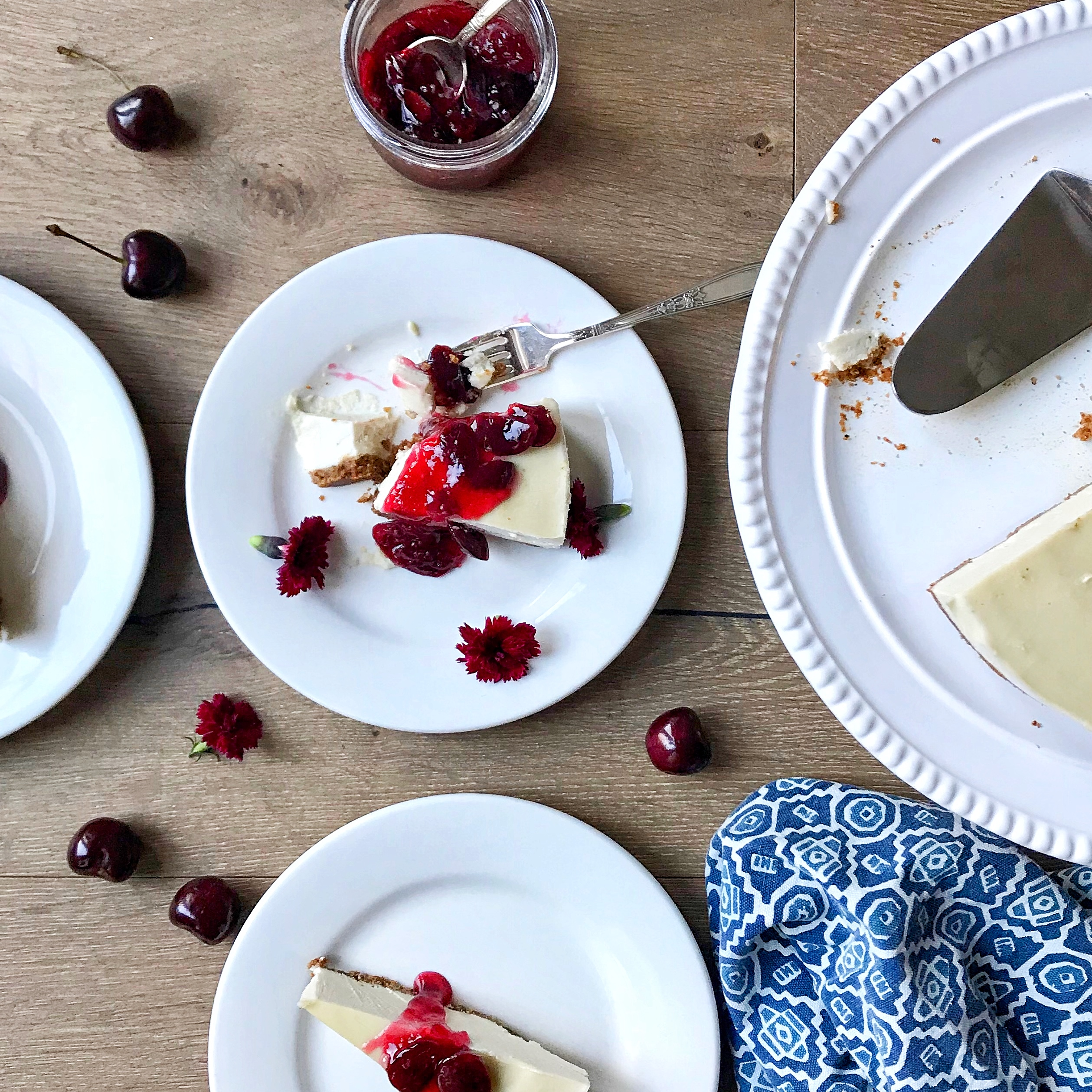 Vegan Gluten Free Cherry Cheese Cake