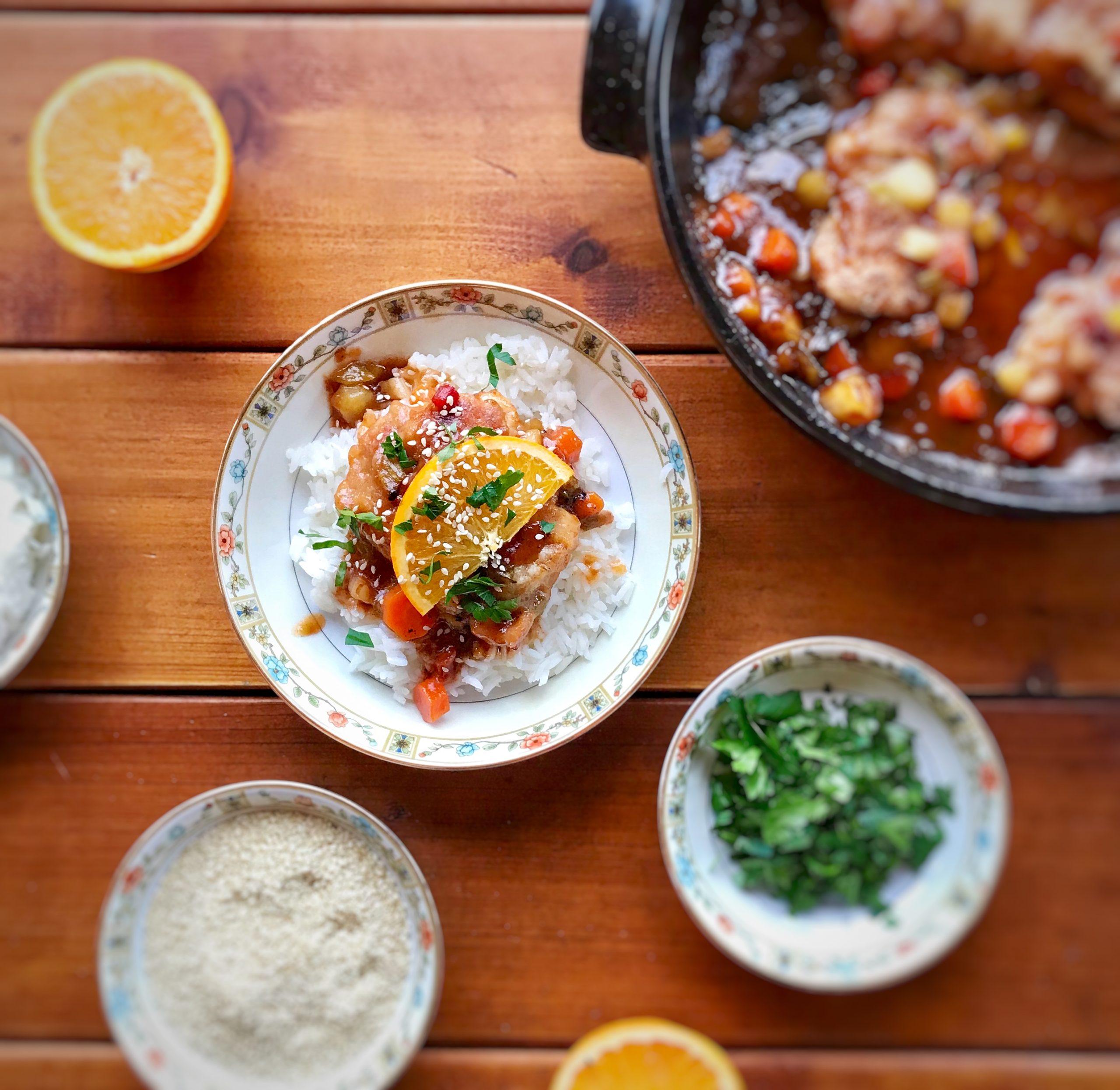 Sweet Orange Chicken One Pot Dinner (Gluten Free)