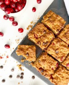 Hangry Helpers - Salted Dark Chocolat Chip and Cranberry Bars