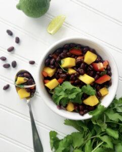 Revitalizing Black Bean, Mango and Cilantro Salad