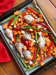 Italian Seasoning Chicken Sheet Pan Dinner