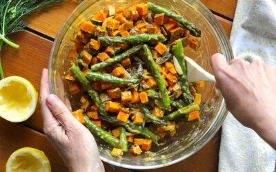Asparagus Sweet Potato Salad