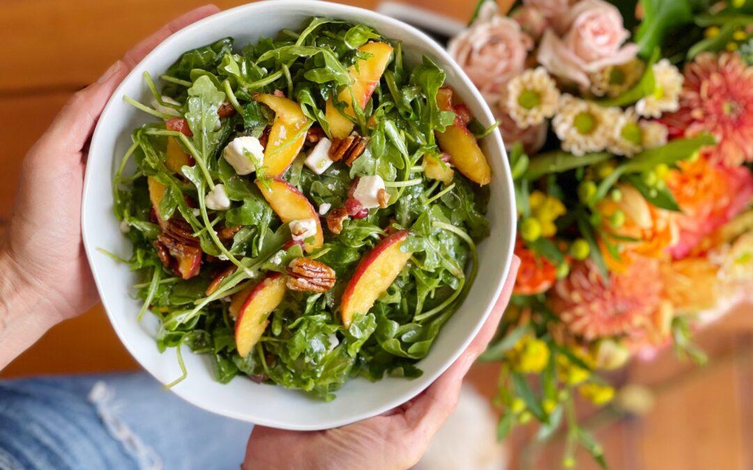 Arugula Peach Salad